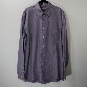 Ermenegildo Zegna Purple Striped Dress Shirt XL
